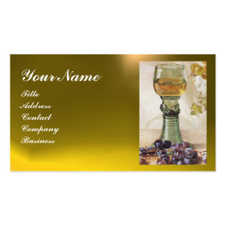GLASS OF WINE, OLD GRAPE VINEYARD Double-Sided STANDARD BUSINESS CARDS (Pack OF 100)