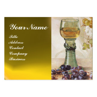 GLASS OF WINE, OLD GRAPE VINEYARD ,RED WAX SEAL BUSINESS CARDS