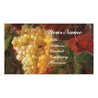 GLASS OF WINE, OLD GRAPE VINEYARD ,RED WAX SEAL Double-Sided STANDARD BUSINESS CARDS (Pack OF 100)
