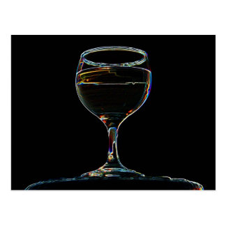 Glass of Wine post card