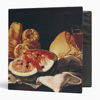 Glass of Wine, Watermelon and Bread Binder