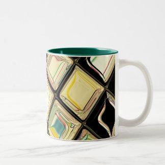 Glass on Black ~ customizable Two-Tone Coffee Mug