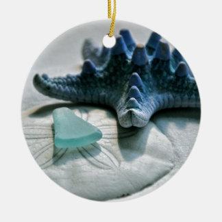Glass on Dollar Ceramic Ornament
