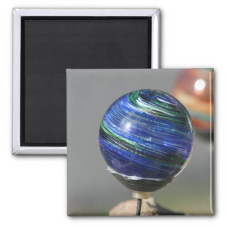 Glass orb 2 inch square magnet