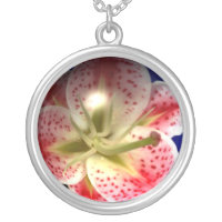 Glass Orchid Necklace