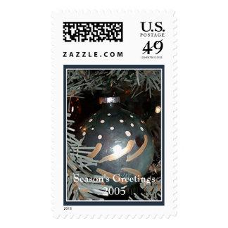 Glass Ornament, Season's Greetings 2005 Postage Stamp