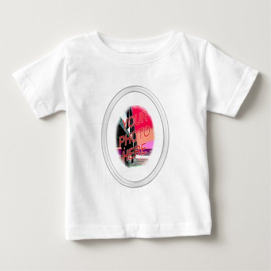 Glass Oval Frame Template Baby T-Shirt