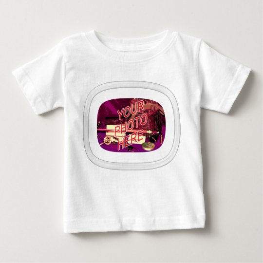 Glass Oval Rectangle Frame Baby T-Shirt