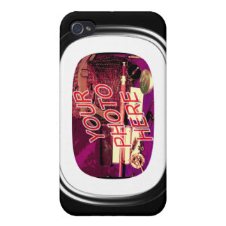 Glass Oval Rectangle Frame iPhone 4/4S Covers