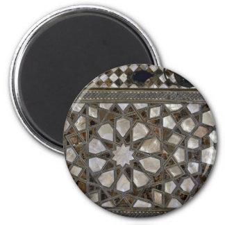 Glass Patterns On Walls Fridge Magnet