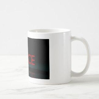 GLASS PEACE COFFEE MUG