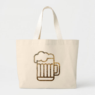Glass Pint of Beer Large Tote Bag