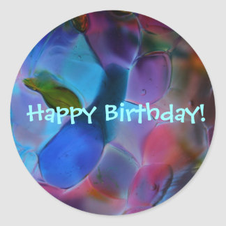 """Glass Planet"" large Birthday stickers"