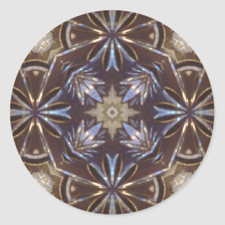 glass plate abstract pattern classic round sticker