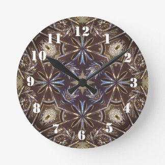 glass plate abstract pattern round clock