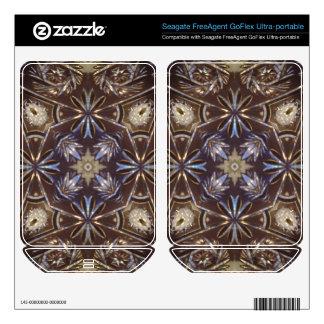 glass plate abstract pattern FreeAgent GoFlex skin