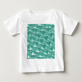 Glass Prison teal abstract minimalist square art Baby T-Shirt