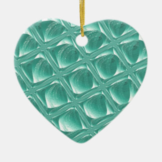 Glass Prison teal abstract minimalist square art Ceramic Ornament
