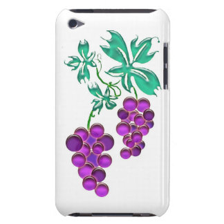 Glass Purple Grape Cluster Barely There iPod Cover