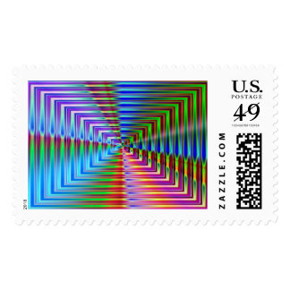 Glass Rectangles Postage Stamp