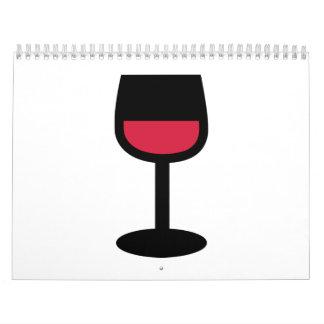 Glass red wine calendar