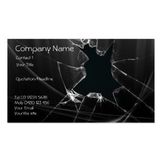 Glass Repair Business Card Templates