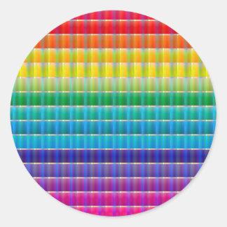 Glass Ribbon Rainbow Classic Round Sticker