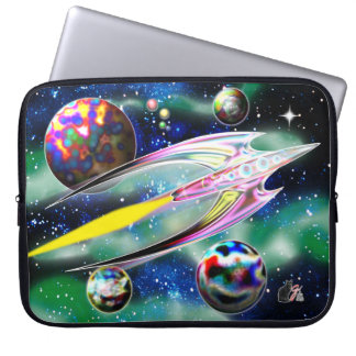 Glass Rocket Laptop Computer Sleeves