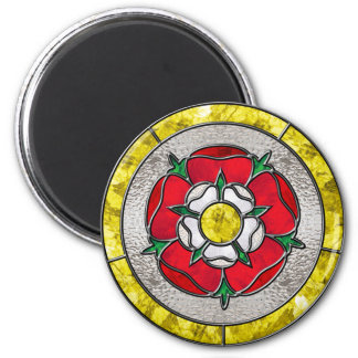 Glass Rose 2 Inch Round Magnet