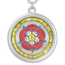 Glass Rose Necklace