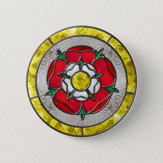Glass Rose Pinback Button