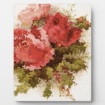 Glass Roses Photo Plaques