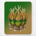Glass Sculpture in Greens and Browns Mousepad