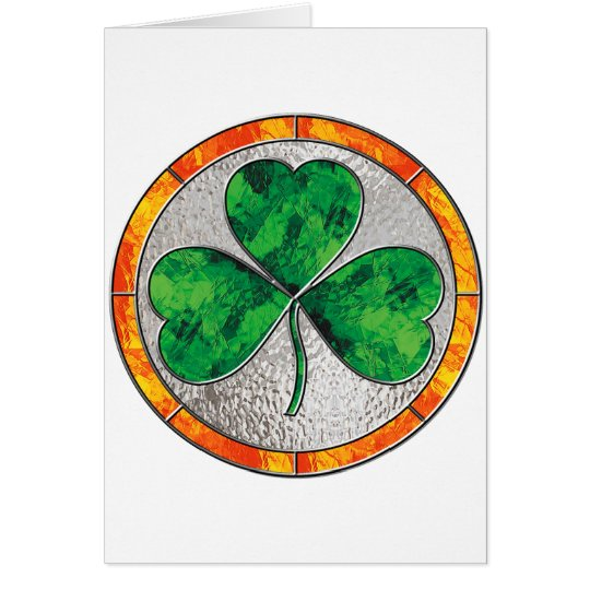 Glass Shamrock Card