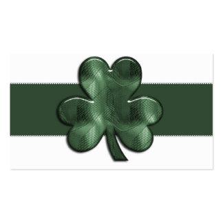 Glass Shamrock Irish Business Cards