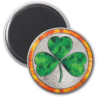 Glass Shamrock Magnet