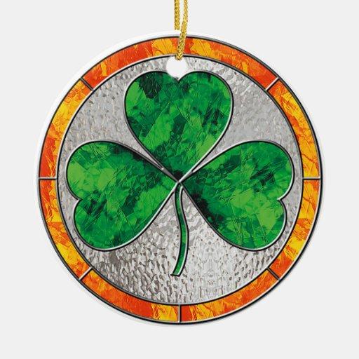 Glass Shamrock Ornament