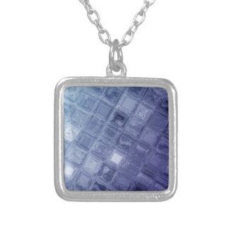 Glass Silver Plated Necklace
