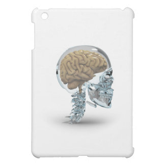 Glass skull with brain iPad mini case
