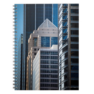 Glass skyscrapers line Chicago's financial Notebook