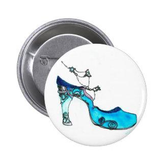 Glass Slipper 2 Inch Round Button