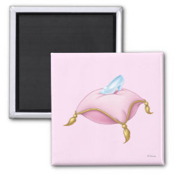 Cinderella's Glass Slipper Square Magnet