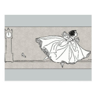 Glass Slipper Vintage Cinderella Postcard