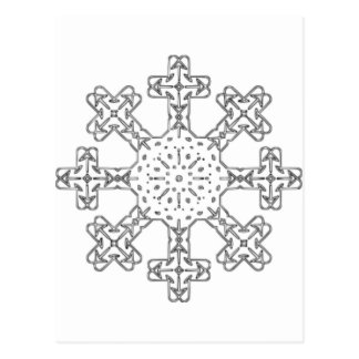 Glass Snowflake Post Cards