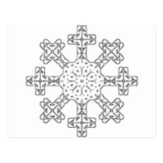 Glass Snowflake Postcards