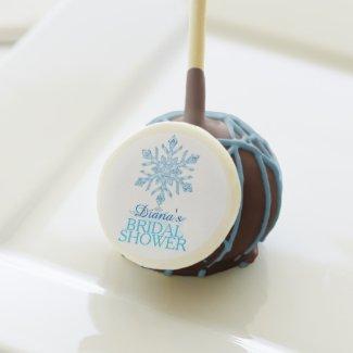 Glass Snowflake Winter Bridal Shower Cake Pop Cake Pops