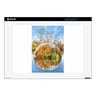 """Glass sphere with autumn nature reflection in it skin for 15"""" laptop"""
