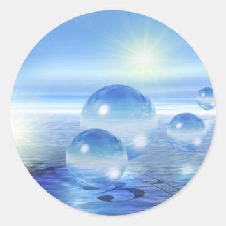 Glass Spheres Classic Round Sticker
