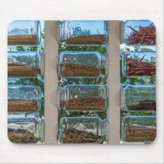 Glass spice jars mousepad