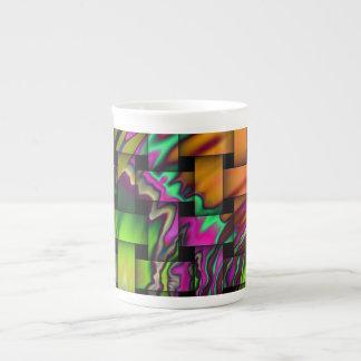 glass squares porcelain mugs